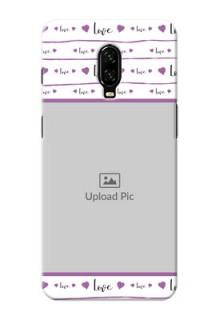Oneplus 6T Mobile Back Covers: Couples Heart Design