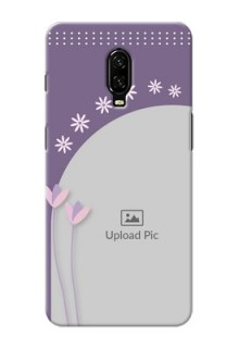 Oneplus 6T Phone covers for girls: lavender flowers design