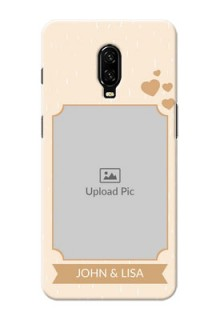 Oneplus 6T mobile phone cases with confetti love design
