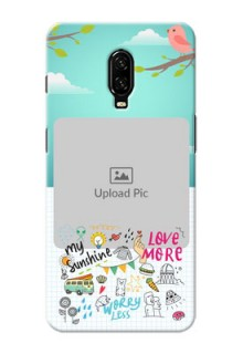 Oneplus 6T phone cases online: Doodle love Design