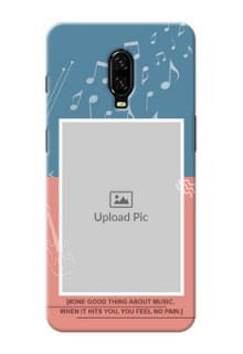 Oneplus 6T Phone Back Covers with Color Musical Note Design