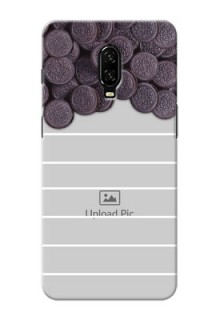 Oneplus 6T Custom Mobile Covers with Oreo Biscuit Design