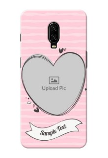 Oneplus 6T custom mobile phone covers: Vintage Heart Design