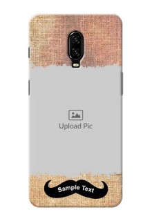 Oneplus 6T Mobile Back Covers Online with Texture Design