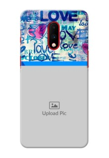 Oneplus 7 Mobile Covers Online: Colorful Love Design