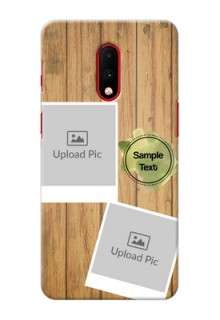 Oneplus 7 Custom Mobile Phone Covers: Wooden Texture Design
