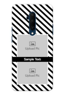 Oneplus 7T Pro Back Covers: Black And White Stripes Design