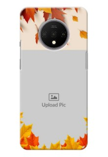 Oneplus 7T Mobile Phone Cases: Autumn Maple Leaves Design