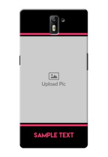 OnePlus One Photo With Text Mobile Case Design