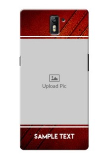 OnePlus One Leather Design Picture Upload Mobile Case Design