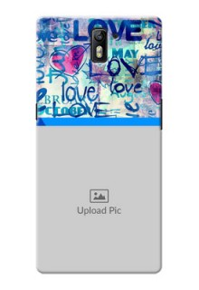 OnePlus One Colourful Love Patterns Mobile Case Design