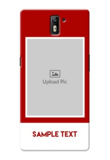 OnePlus One Simple Red Colour Mobile Cover  Design
