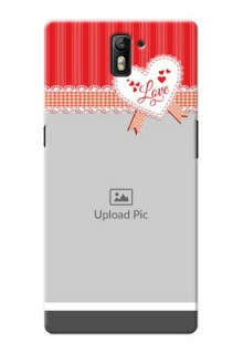OnePlus One Red Pattern Mobile Cover Design