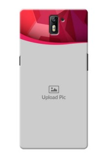 OnePlus One Red Abstract Mobile Case Design