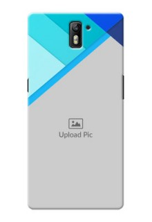 OnePlus One Blue Abstract Mobile Cover Design