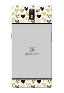 OnePlus One Colourful Love Symbols Mobile Cover Design