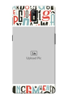 OnePlus One Colourful Alphabets Mobile Back Case Design