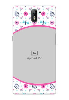OnePlus One Colourful Flowers Mobile Cover Design