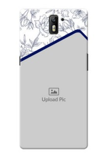 OnePlus One Floral Design Mobile Cover Design