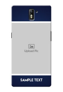 OnePlus One Simple Blue Colour Mobile Cover Design