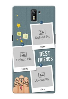 OnePlus One 3 image holder with sticky frames and friendship day wishes Design