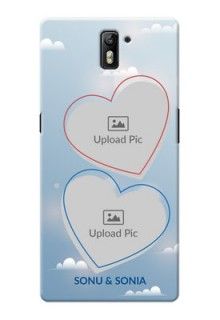 OnePlus One couple heart frames with sky backdrop Design