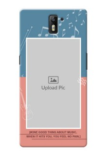OnePlus One 2 colour backdrop with music theme Design Design