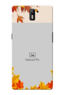 OnePlus One autumn maple leaves backdrop Design