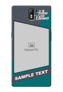 OnePlus One 2 colour background with different patterns and dreams quote Design Design