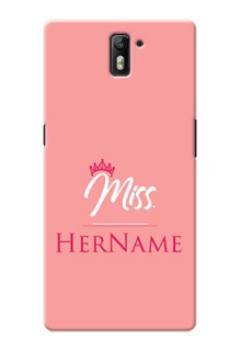 Oneplus One Custom Phone Case Mrs with Name