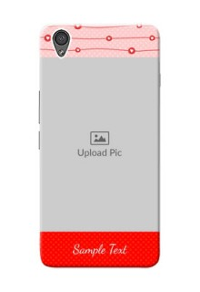 OnePlus X Red Pattern Mobile Case Design
