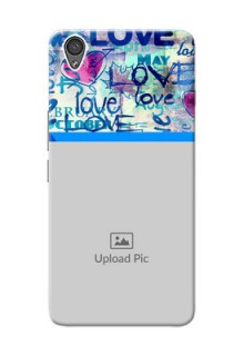 OnePlus X Colourful Love Patterns Mobile Case Design