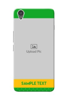 OnePlus X Green And Yellow Pattern Mobile Cover Design