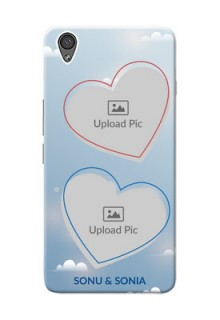 OnePlus X couple heart frames with sky backdrop Design