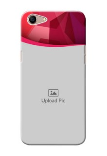 Oppo A1 custom mobile back covers: Red Abstract Design