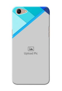 Oppo A1 Phone Cases Online: Blue Abstract Cover Design