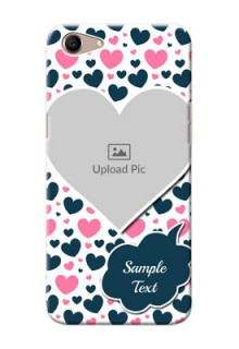 Oppo A1 Mobile Covers Online: Pink & Blue Heart Design