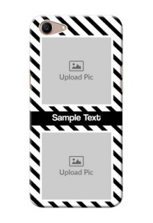 Oppo A1 Back Covers: Black And White Stripes Design