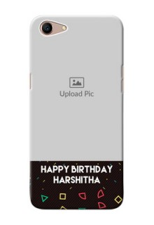 Oppo A1 custom mobile cases with confetti birthday design