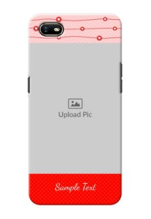 Oppo A1K Custom Phone Cases: Red Pattern Case Design