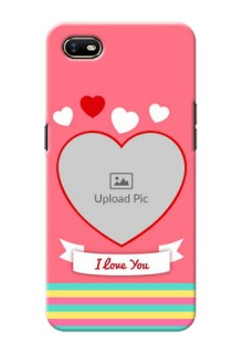 Oppo A1K Personalised mobile covers: Love Doodle Design
