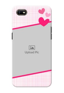 Oppo A1K Personalised Phone Cases: Love Shape Heart Design
