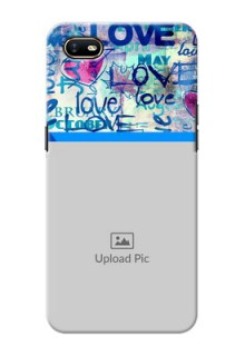 Oppo A1K Mobile Covers Online: Colorful Love Design