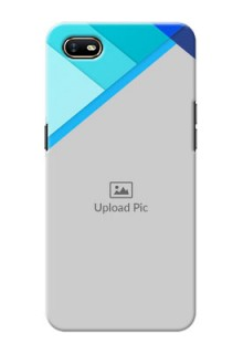 Oppo A1K Phone Cases Online: Blue Abstract Cover Design