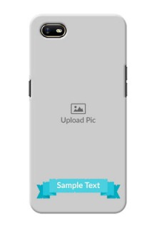 Oppo A1K Personalized Mobile Covers: Simple Blue Color Design