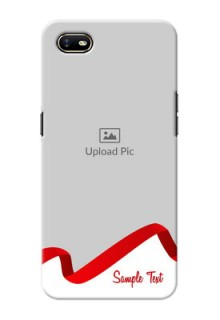 Oppo A1K custom phone cases: Red Ribbon Frame Design