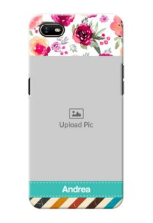 Oppo A1K Personalized Mobile Cases: Watercolor Floral Design