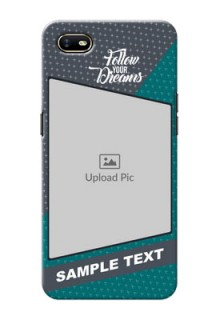 Oppo A1K Back Covers: Background Pattern Design with Quote