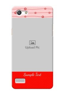 Oppo A33 Red Pattern Mobile Case Design