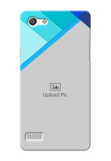 Oppo A33 Blue Abstract Mobile Cover Design